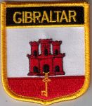 Gibraltar Embroidered Flag Patch, style 07